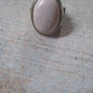 Pink stone stretch ring